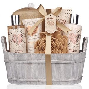 Spa Gift Basket - Bath and Body Set with Vanilla Fragrance by Lovestee