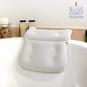 Blue Coast Collection-Bath Pillow for Tub with Konjac Sponge-Large Size