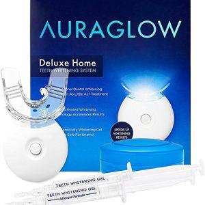 AuraGlow Teeth Whitening Kit, LED Light, 35% Carbamide Peroxide