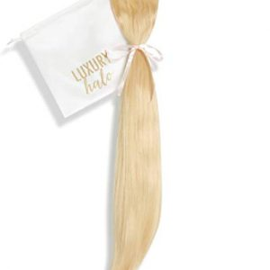 "Halo Fit + Clip-in Extensions (16""-18"" Inch, 120 Grams, 24 Golden Blonde)"