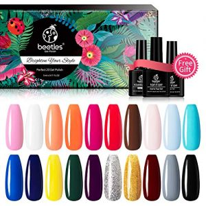 Beetles 23 Pcs Gel Nail Polish Kit - Soak Off UV LED Gel Polish Set