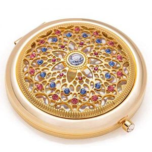 Unique Gifts For Women / 24k Gold Electroplate Makeup Mirror