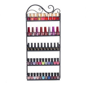 Nail Polish Rack Holder Wall Mounted 5 Tier Tree Silhouette Round Metal Salon