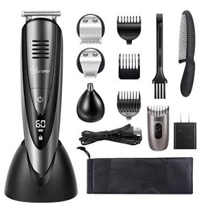 Hatteker Mens Beard Trimmer Grooming Kit Cordless Mustache Trimmer
