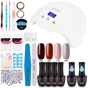 Gellen Gel Nail Polish Starter Kit Popular 4 Colors