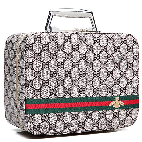Luxury Portable Make Up Bag,PU Vegan Leather Cosmetic Toiletry Travel Bag