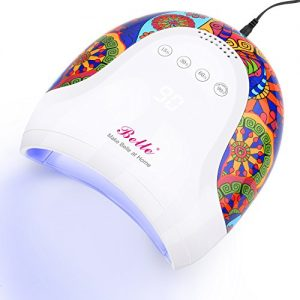 Belle 48W UV LED Nail Lamp, Tribal Print Nail Dryer Lamp