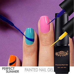 Perfect Summer 12PCS Painted Nail Gel Polish Soak Off Gel Liner Painting