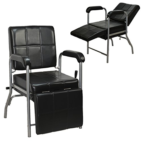 LCL Beauty Black Deluxe Reclining Shampoo Chair