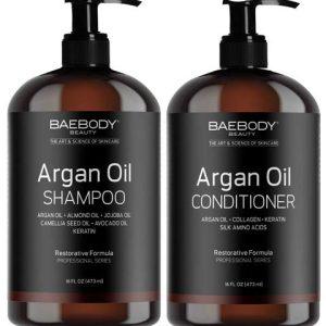 Baebody Moroccan Argan Oil Shampoo & Conditioner Set