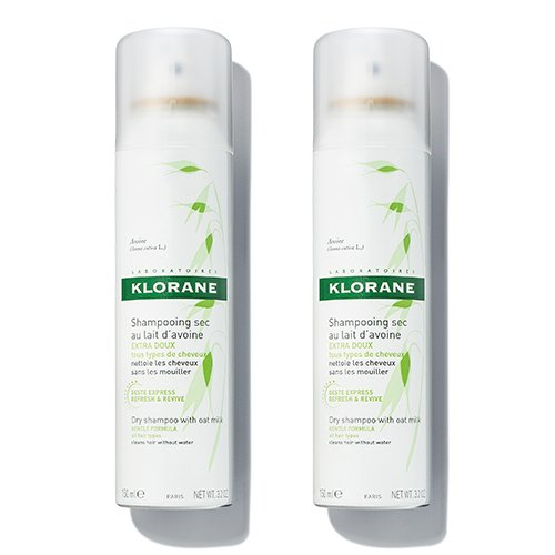 Klorane Dry Shampoo with Oat Milk, Ultra-Gentle, All Hair Types