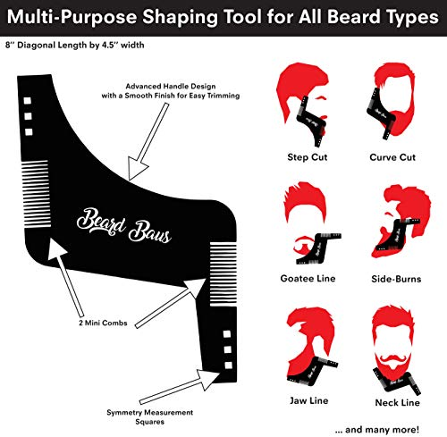 Beard Grooming Kit For Men With Brush And Comb Unscented
