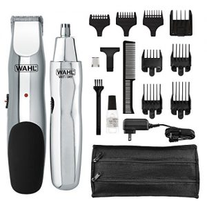 Wahl Groomsman Rechargeable Beard, Mustache, Hair & Nose Hair Trimmer