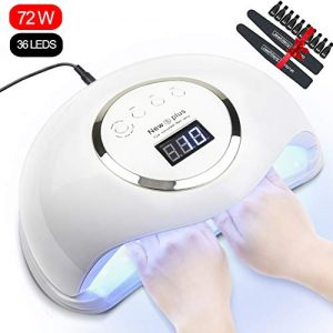 Gel UV LED Nail Lamp, Jewhiteny Nail Dryer 72W Gel Nail Polish UV Light