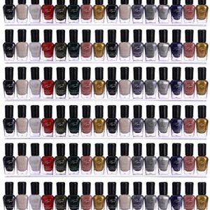 Sooyee 66-90 Bottles 6 Pack Clear Acrylic Shelf Nail Polish