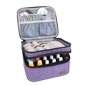 Luxja Nail Polish Carrying Case - Holds 20 Bottles