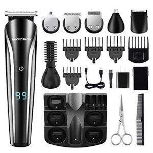 Beard Trimmer For Men, MIGICSHOW Cordless Hair Clippers Waterproof