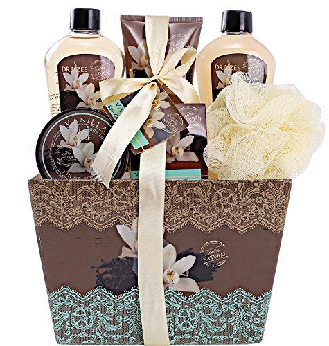 "Spa Basket for Women w/Refreshing ""Seductive Vanilla"" Fragrance by Draizee"