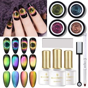 BORN PRETTY 9D Cat Eye Gel Polish Set DIY Galaxy Magnetic Soak