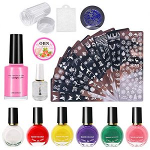 Tingbeauty Nail Art Stamping Plates Kit with 10pcs Stamping Plates