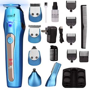 Ceenwes Cool 5 In 1 Mens Grooming Kit Professional Beard Trimmer Rechargeable