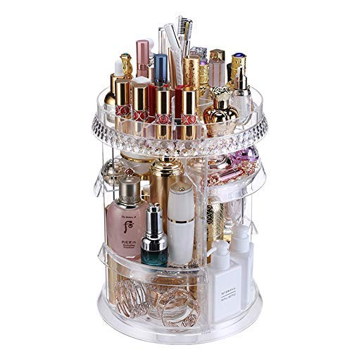 [Upgraded Design] 360 Degree Luxury Rotating Makeup/Perfume Organizer