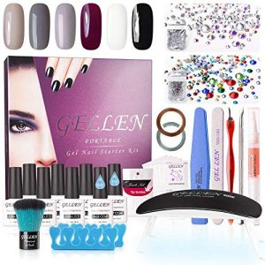 Gellen Gel Polish Starter Kit - with Top Coat Base Coat Nail Dryer