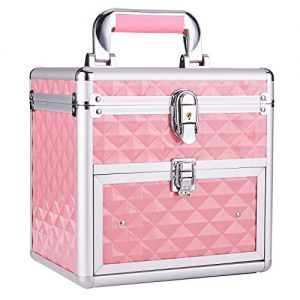 Frenessa Nail Polish Organizer Travel Case Manicure Accessory Storage Makeup