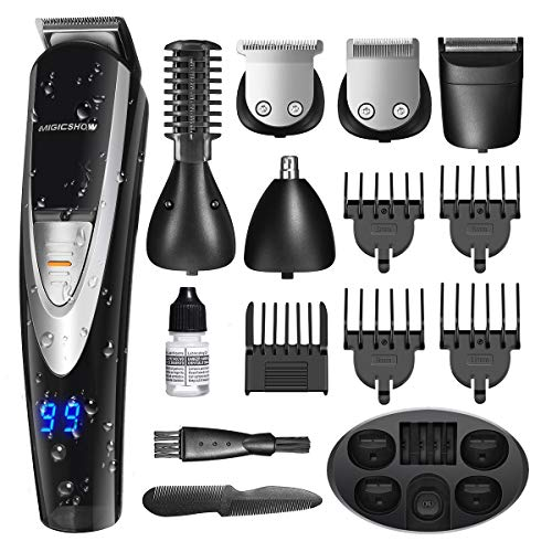 MIGICSHOW Electric Beard Trimmer for men -12 in 1 Showerproof