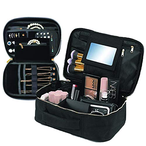 Travel Makeup and Jewelry Set   2pc Luxury Cosmetic Case