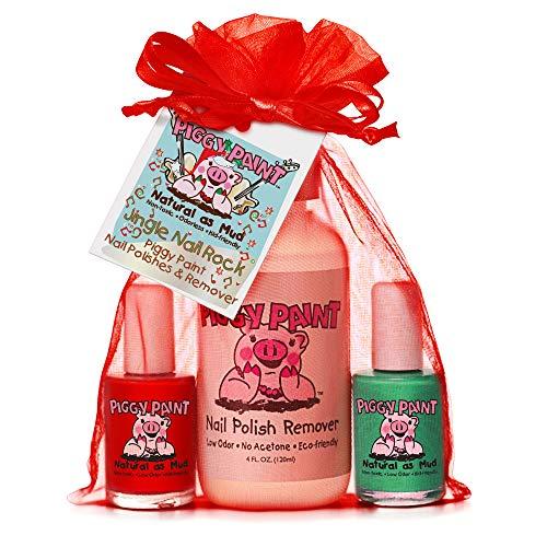 Piggy Paint Non-toxic Girls Nail Polish Kit - Natural Low Odor Fingernail Polish