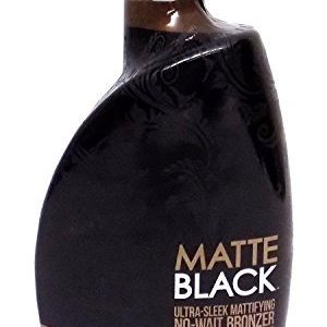 Matte Black, Ultra Sleek, No Wait Tanning Bronzer Lotion