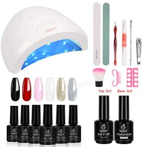 Beetles Gel Nail Polish Starter Kit with UV Light 48W LED Nail Lamp