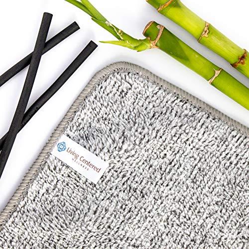 Living Centered Wellness Organic Bamboo + Charcoal Microfiber Face Cloth
