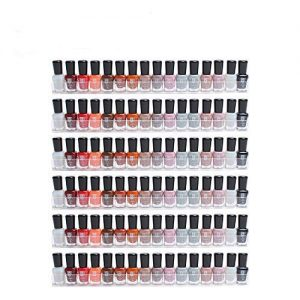 Display4top 6 Pack of Clear Acrylic Nail Polish Rack