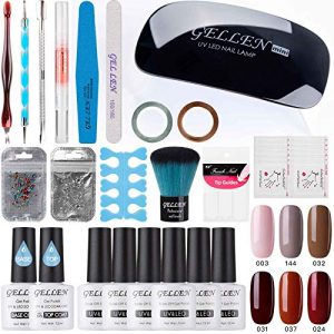Gellen Gel Nail Polish Starter Kit With Nail Dryer Light- Selected