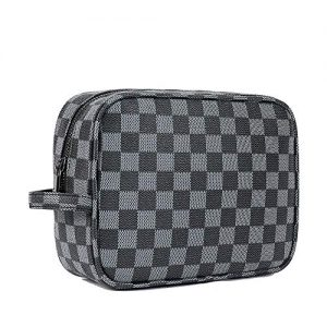 Luxury Checked Large Makeup Bag Cosmetic Travel bag makeup organizer