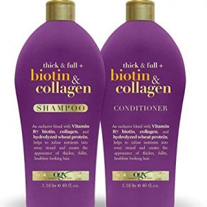 OGX Thick & Full Biotin & Collagen Shampoo 40oz + Conditioner 40oz