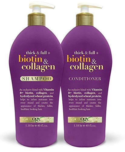 OGX Thick & Full Biotin & Collagen Shampoo 40oz + Conditioner 40oz