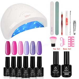 Beetles Gel Nail Polish Starter Kit with 48W UV/LED Light Nail Lamp Base