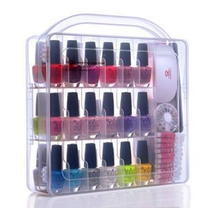 Makartt Portable Gel Nail Polish Organizer Poly Nail Gel Nail Tools
