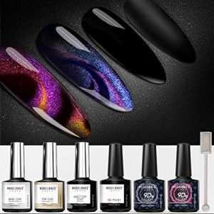 MODELONES Cat Eye Gel Polish Set Chameleon Magnetic Gel Polish