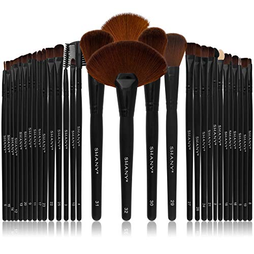 SHANY Professional Brush Set with Leather-Look Pouch