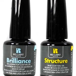 Red Carpet Manicure Gel Nail Polish Brilliance Top and Structure Base