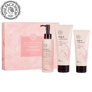 [THEFACESHOP] Rice Water Face Wash Set - Bright Foaming Facial Cleanser