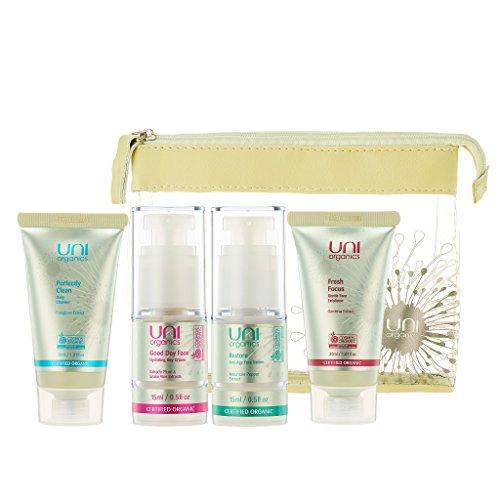 Certified Organic Skin Care Set - Facial Cleanser - Exfoliating Face Scrub