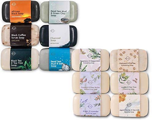 O Naturals Deluxe Variety 2 Pack, 12 Unique Different Bars of Soap