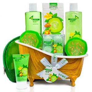 Home Spa Bath Basket Gift Set - Aromatherapy Kit for Men & Women