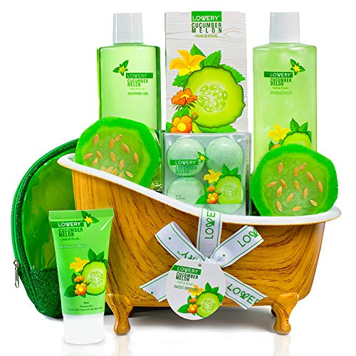 Home Spa Bath Basket Gift Set - Aromatherapy Kit for Men & Women