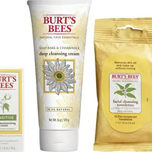 Burt's Bees Basic Face Care Kit, 3 Skin Care Products